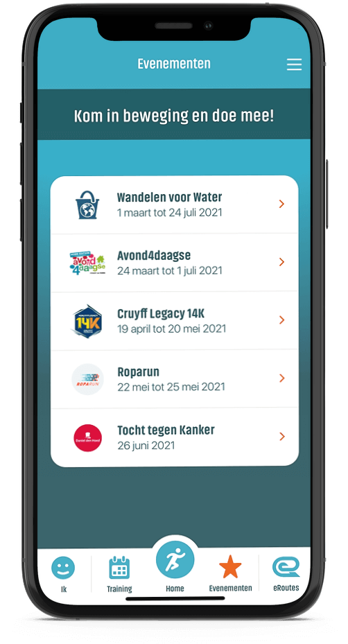 Events in eRoutes app